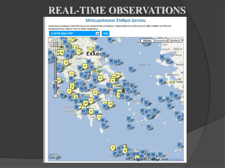 REAL-TIME OBSERVATIONS