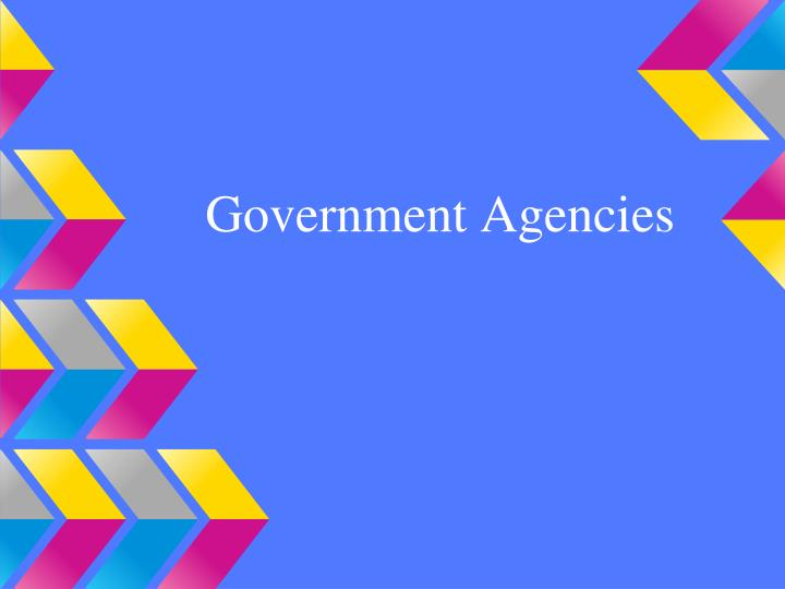 government agencies n.
