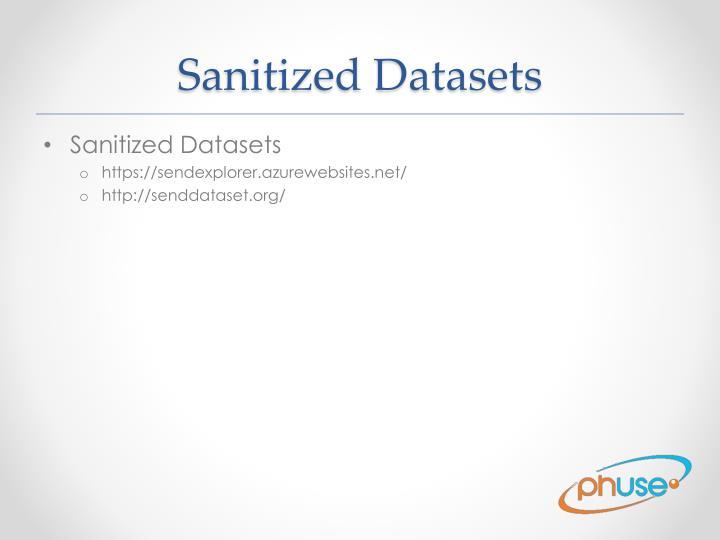 Sanitized Datasets