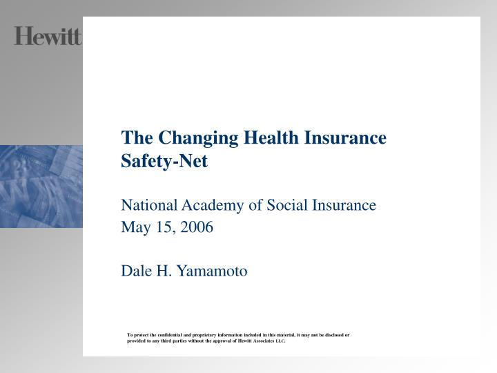 the changing health insurance safety net n.
