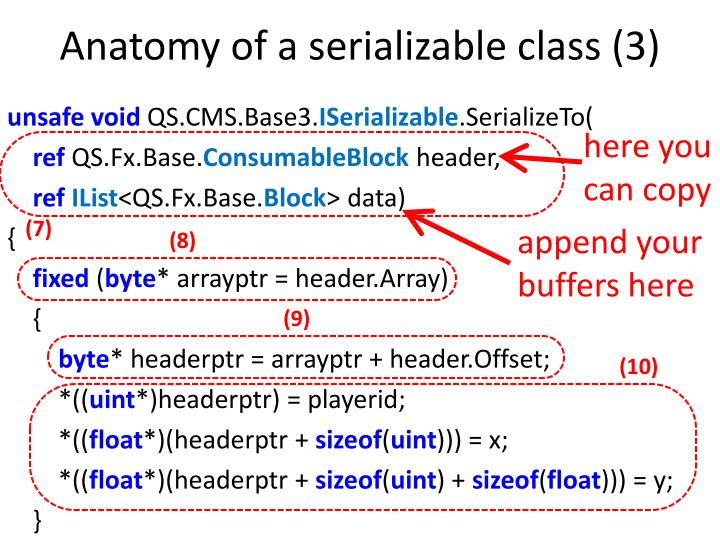 Anatomy of a serializable class (3)