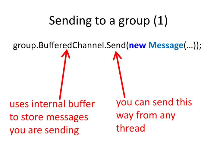 Sending to a group (1)