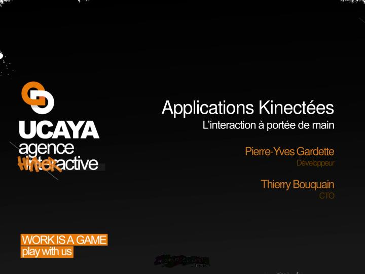 applications kinect es l interaction port e de main n.