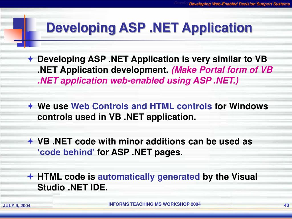 PPT - Developing Web-Enabled Decision Support Systems PowerPoint