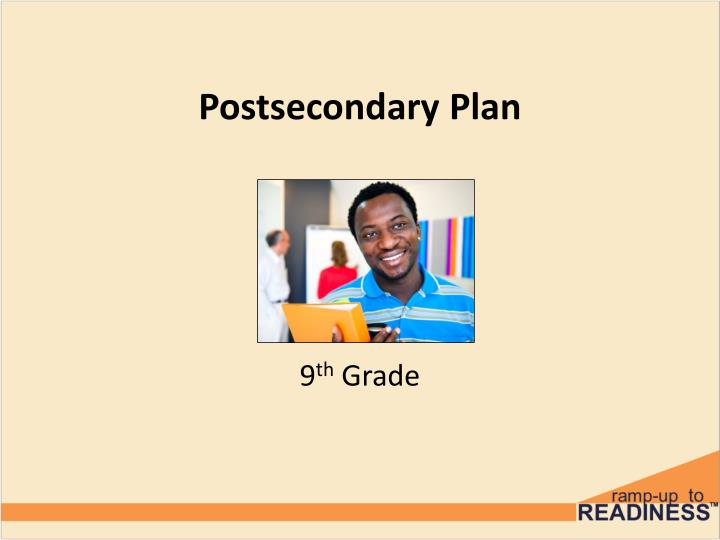 postsecondary plan n.