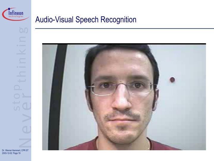 Audio-Visual Speech Recognition