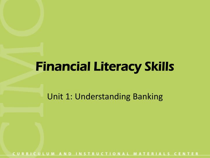 financial literacy skills n.