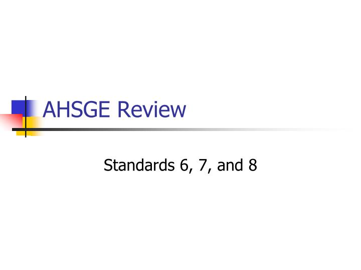 ahsge review n.
