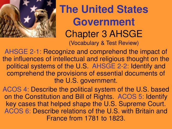 the united states government chapter 3 ahsge vocabulary test review n.