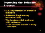 improving the software process1