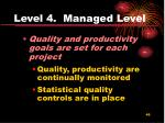 level 4 managed level