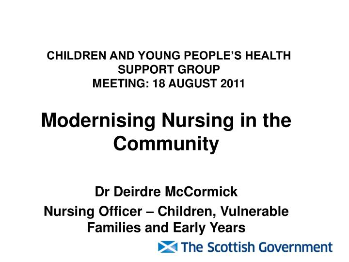 children and young people s health support group meeting 18 august 2011 n.