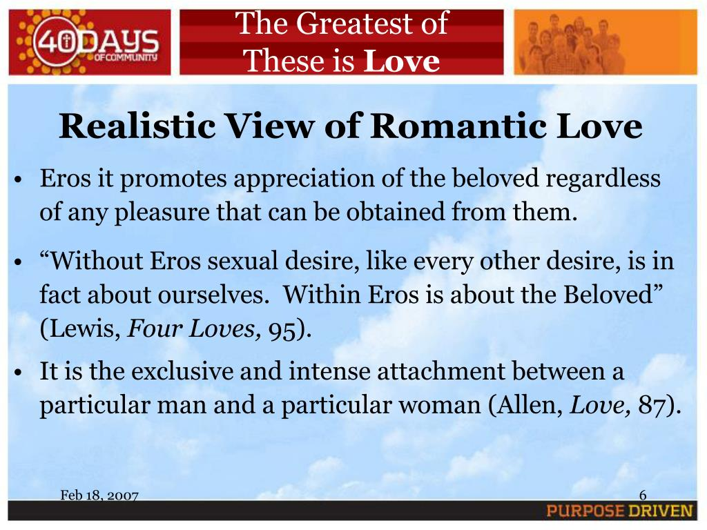 PPT - The Greatest of These is Love Session 3 Eros: Romantic Love