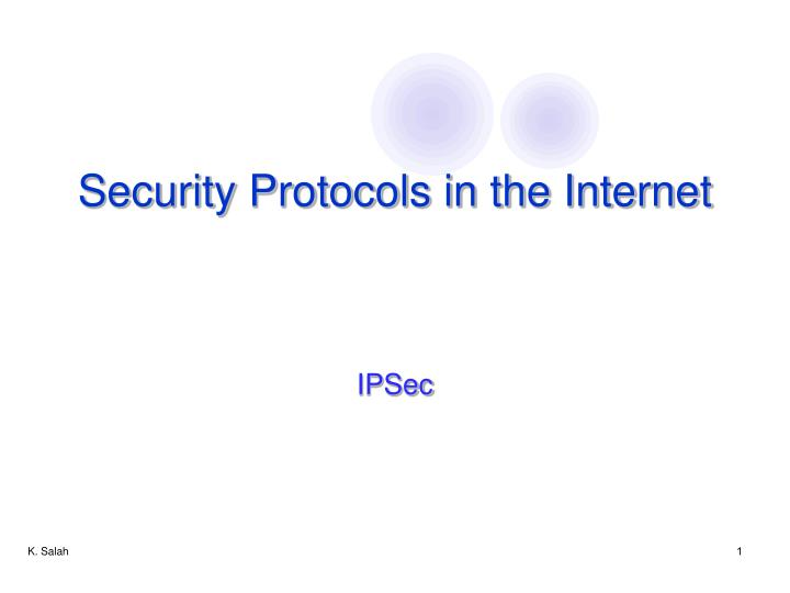 security protocols in the internet n.