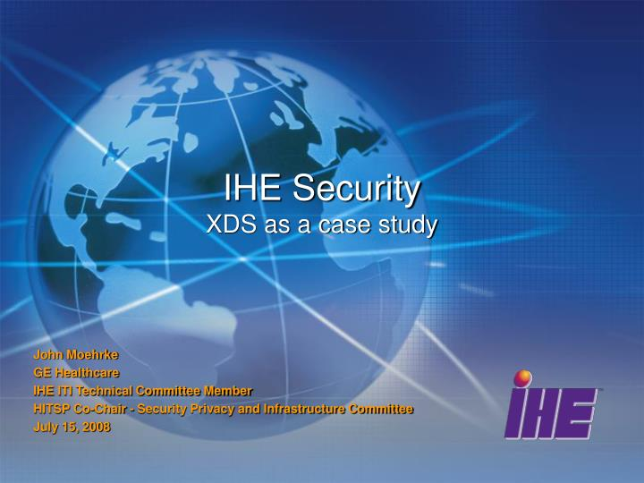 ihe security xds as a case study n.