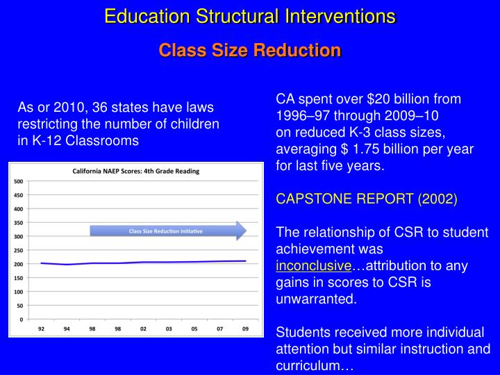 Education Structural Interventions