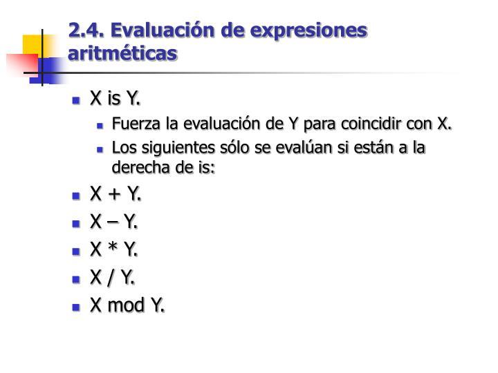 2.4. Evaluación de expresiones aritméticas