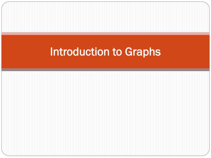 introduction to graphs n.