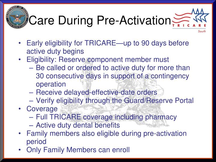 Care During Pre-Activation