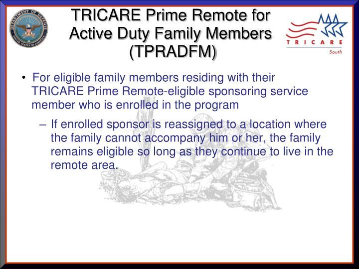 TRICARE Prime Remote for