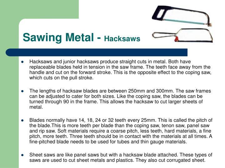 Sawing Metal -