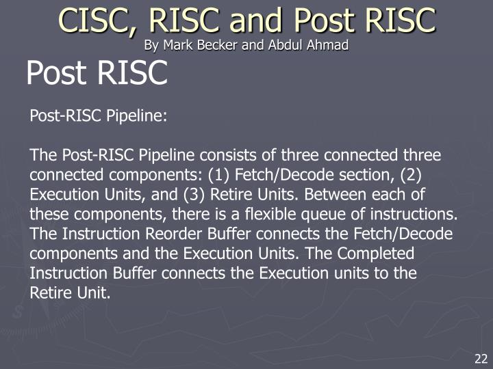 Post RISC