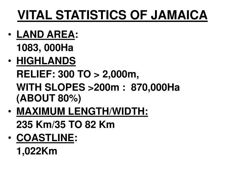 VITAL STATISTICS OF JAMAICA