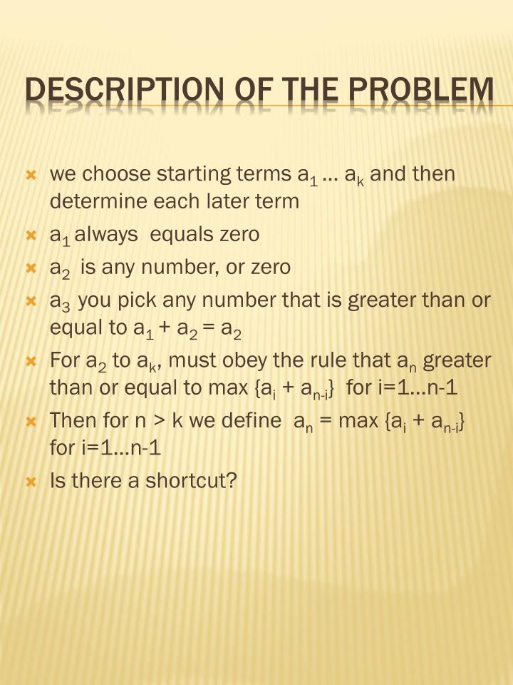 we choose starting terms a