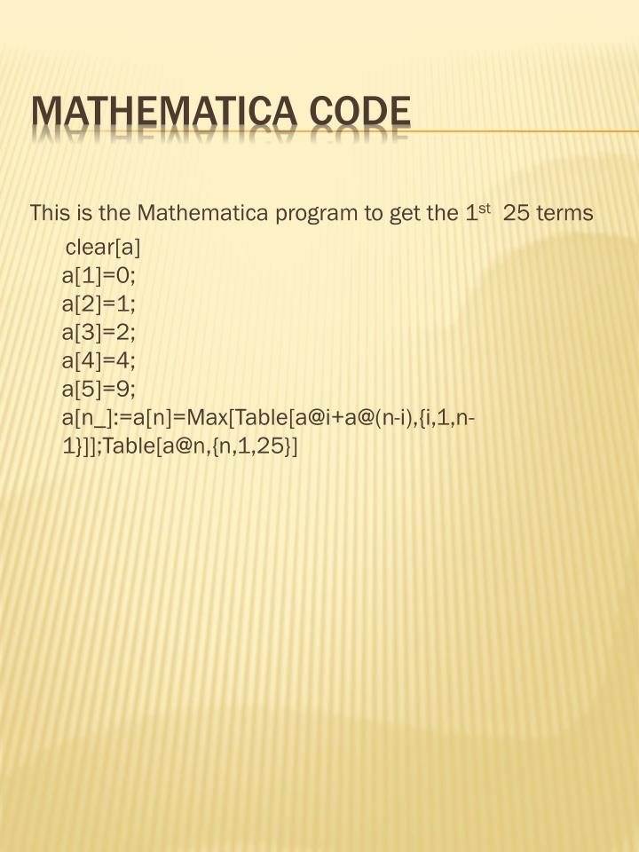 This is the Mathematica program to get the 1