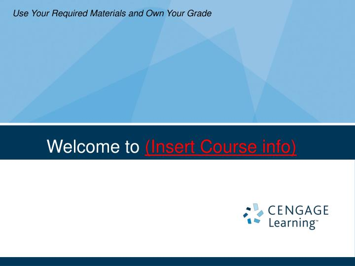 welcome to insert course info n.