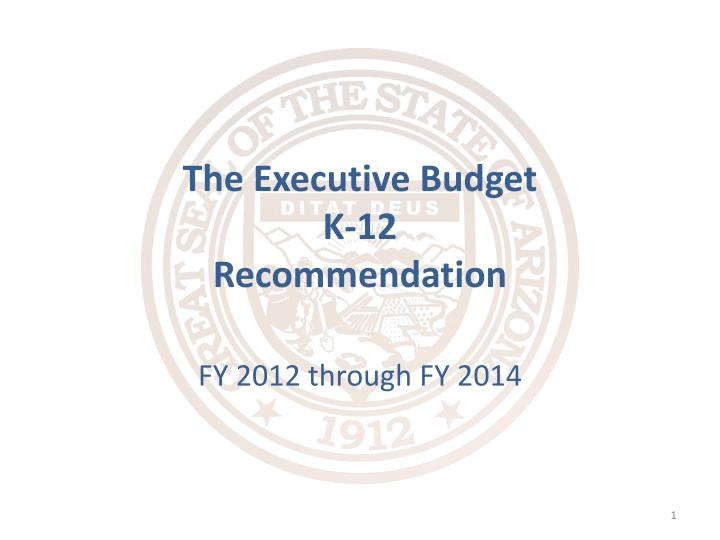 the executive budget k 12 recommendation n.