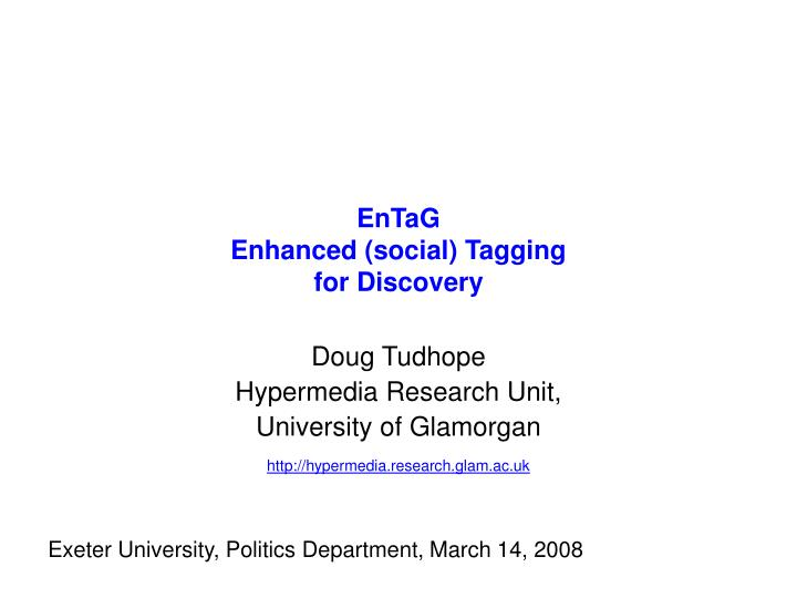 entag enhanced social tagging for discovery n.