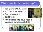 who is qualified for membership