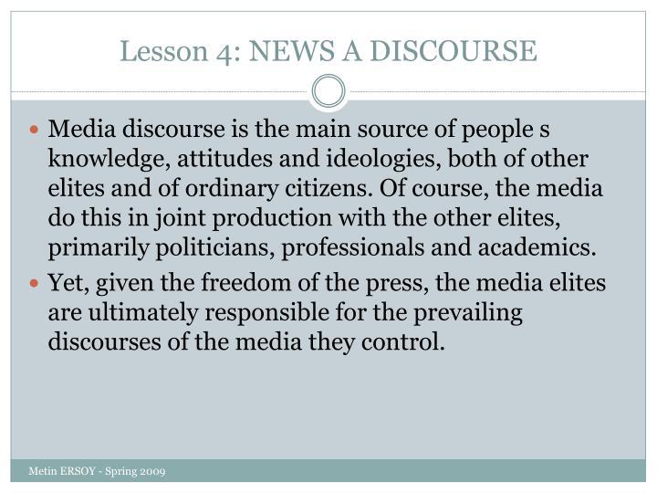 Lesson 4 news a discourse1