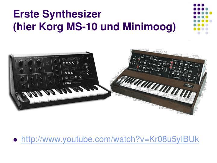 Erste Synthesizer
