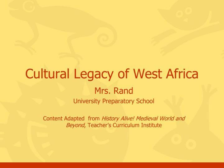 Ppt cultural legacy of west africa powerpoint presentation id cultural legacy of west africa toneelgroepblik Choice Image