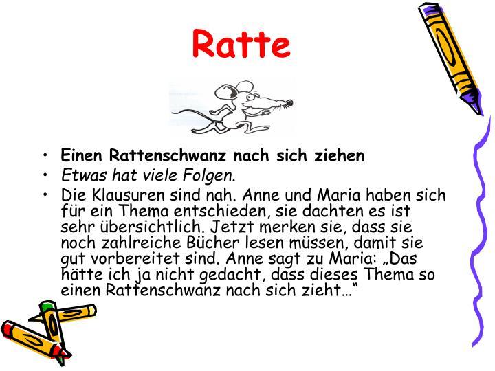 Ppt Tiere In Deutschen Redewendungen Powerpoint Presentation Id