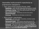 usporedba institucionalnih repozitorija sa znanstvenim asopisima