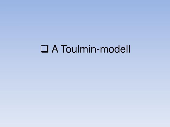 A Toulmin-modell