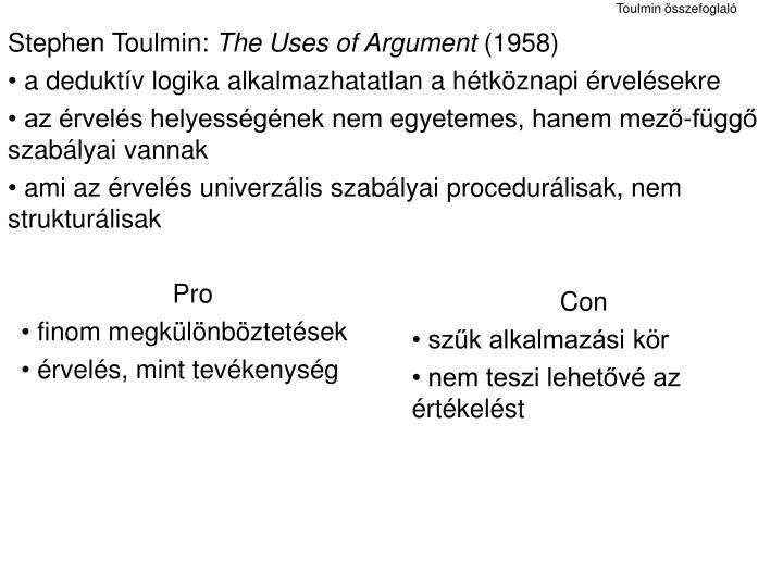 Stephen Toulmin:
