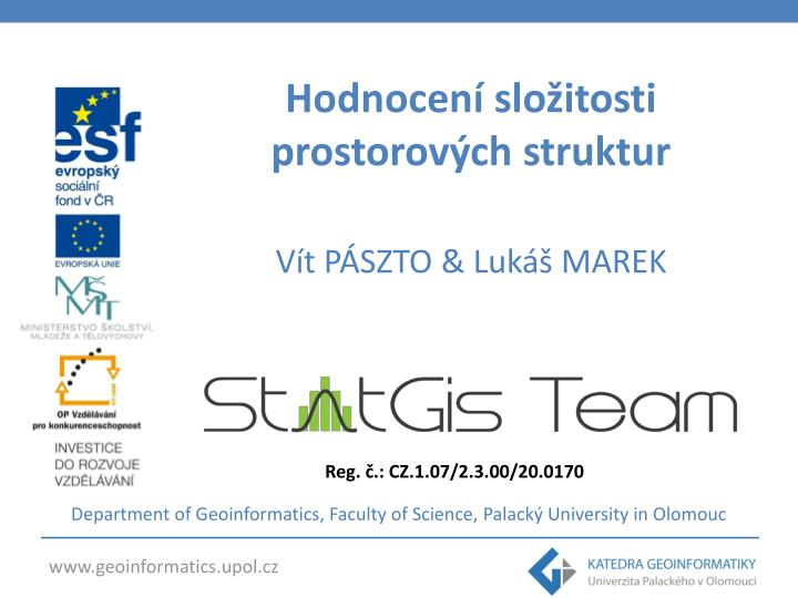 department of geoinformatics faculty of science palack university in olomouc n.