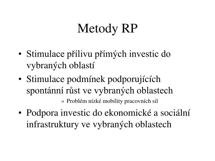 Metody rp