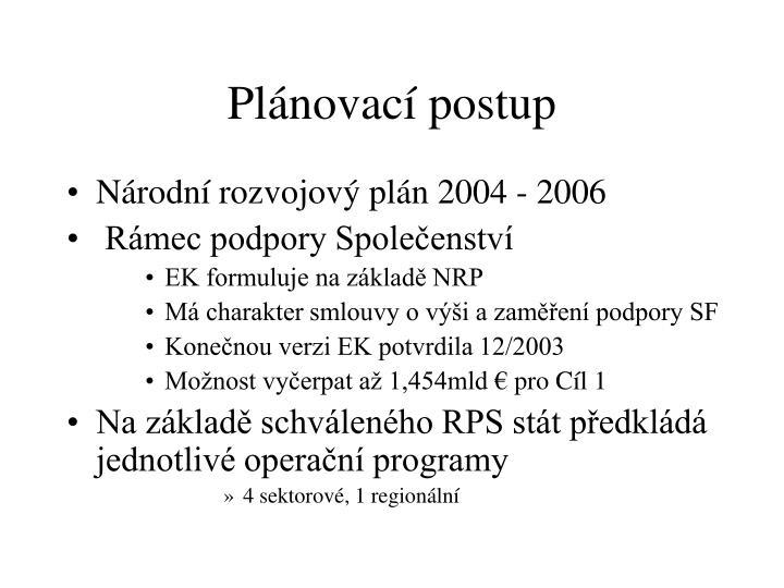 Plánovací postup