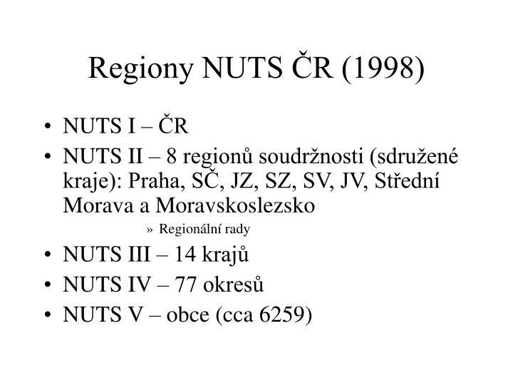 Regiony NUTS ČR (1998)