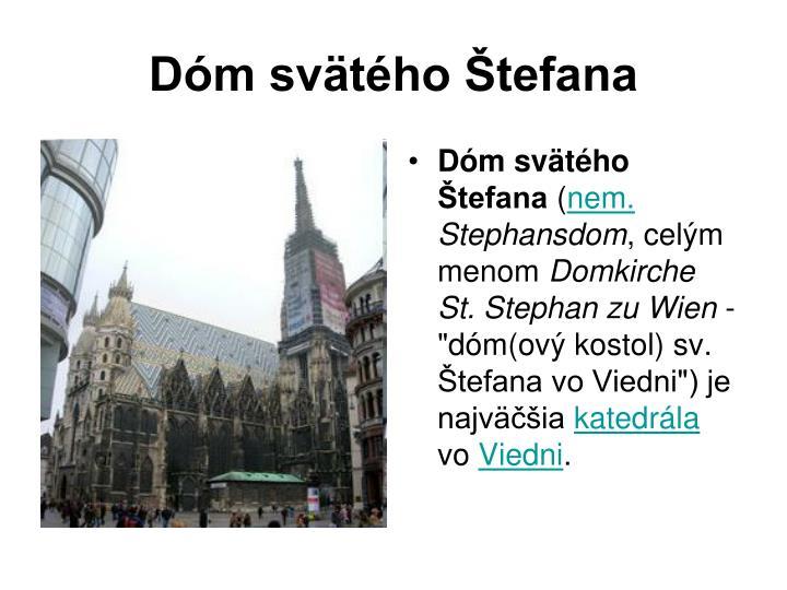 Dóm svätého Štefana