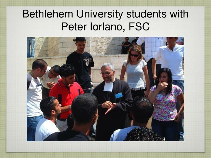 Bethlehem University students with