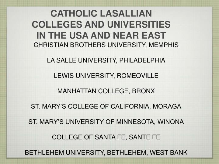 CATHOLIC LASALLIAN