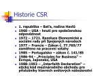 historie csr