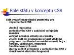 role st tu v konceptu csr