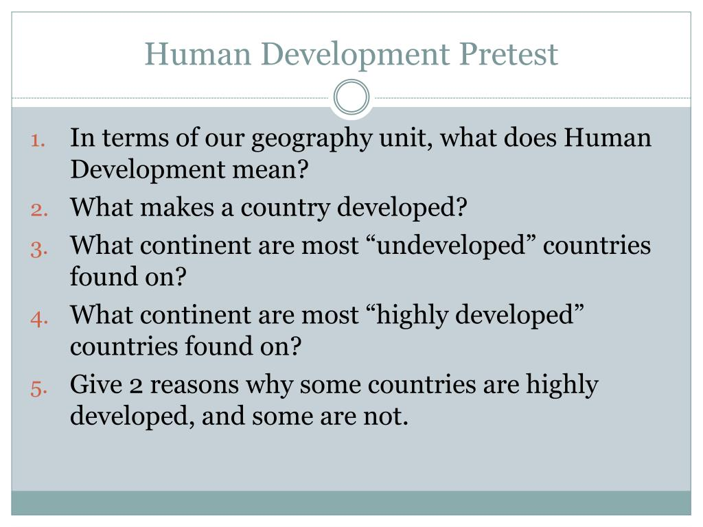 what makes a country developed
